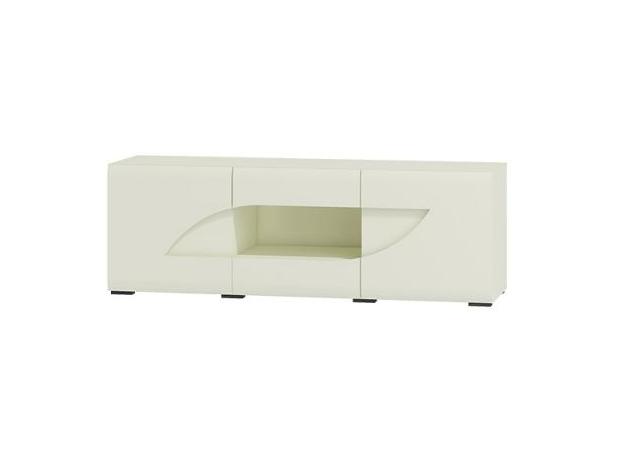 WIP TV stolík BRYZA BRTV-1C Farba: biely mat / biely lesk / biely alebo čierny úchyt