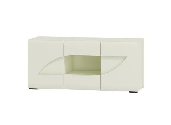 WIP TV stolík BRYZA BRTV-2C Farba: biely mat / biely lesk / biely alebo čierny úchyt