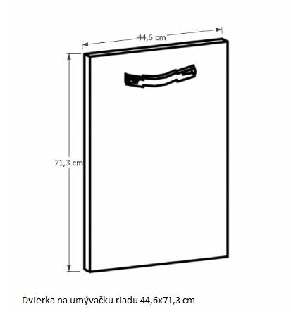 Tempo Kondela Kuchynská linka Provance Provance: Dvierka na umývačku - 44,6x71,3cm