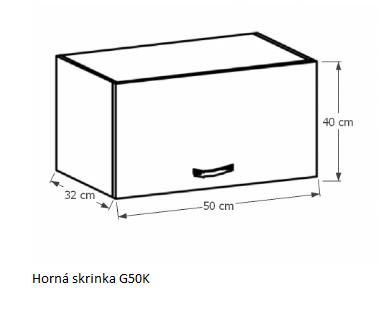 Tempo Kondela Kuchynská linka Provance Provance: Horná skrinka G50K - 50x40x32 cm