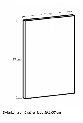 Tempo Kondela Kuchynská linka Provance Provance: Dvierka na umývačku - 59,6x57 cm