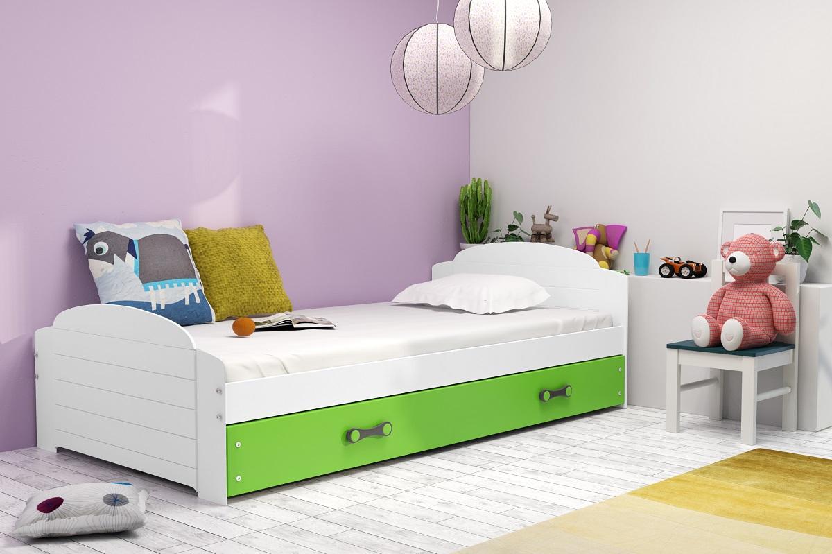 BMS Detská posteľ Lili Farba: biela / zelená