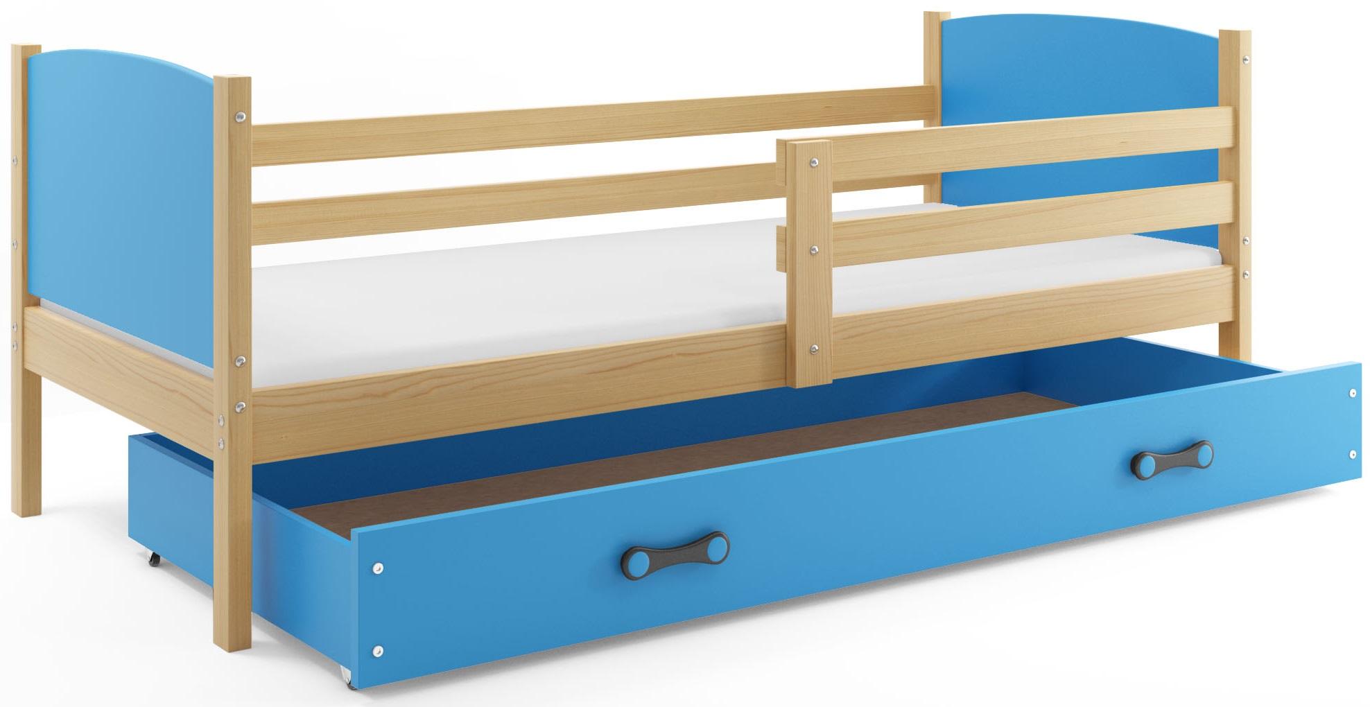 Detská posteľ Tami BMS 90 x 200 Farba: Biela + pásik podľa vlastného výberu - do vypredania zásob