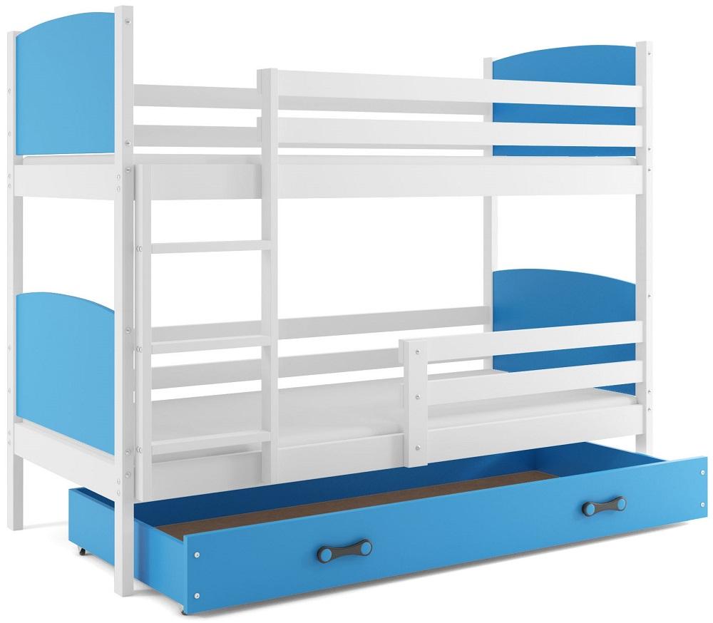 Detská poschodová posteľ Tami 2 BMS 80 x 160 Farba: Biela