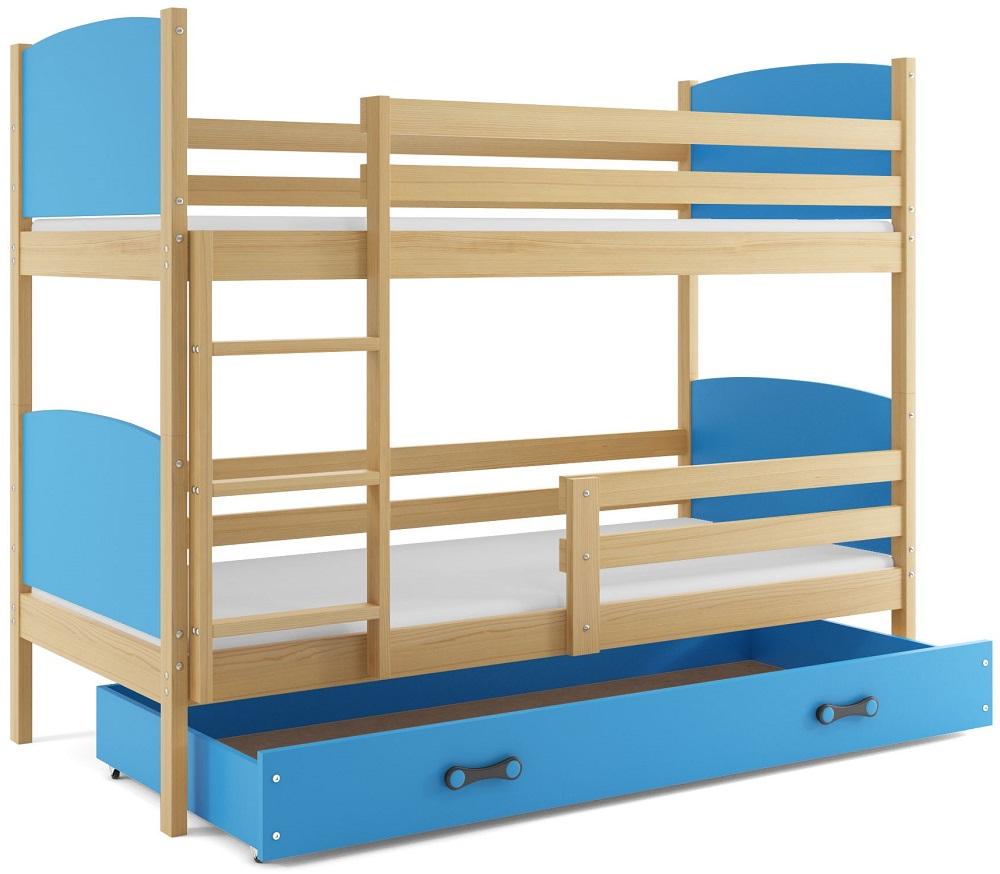 Detská poschodová posteľ Tami 2 BMS 90 x 200 Farba: Borovica
