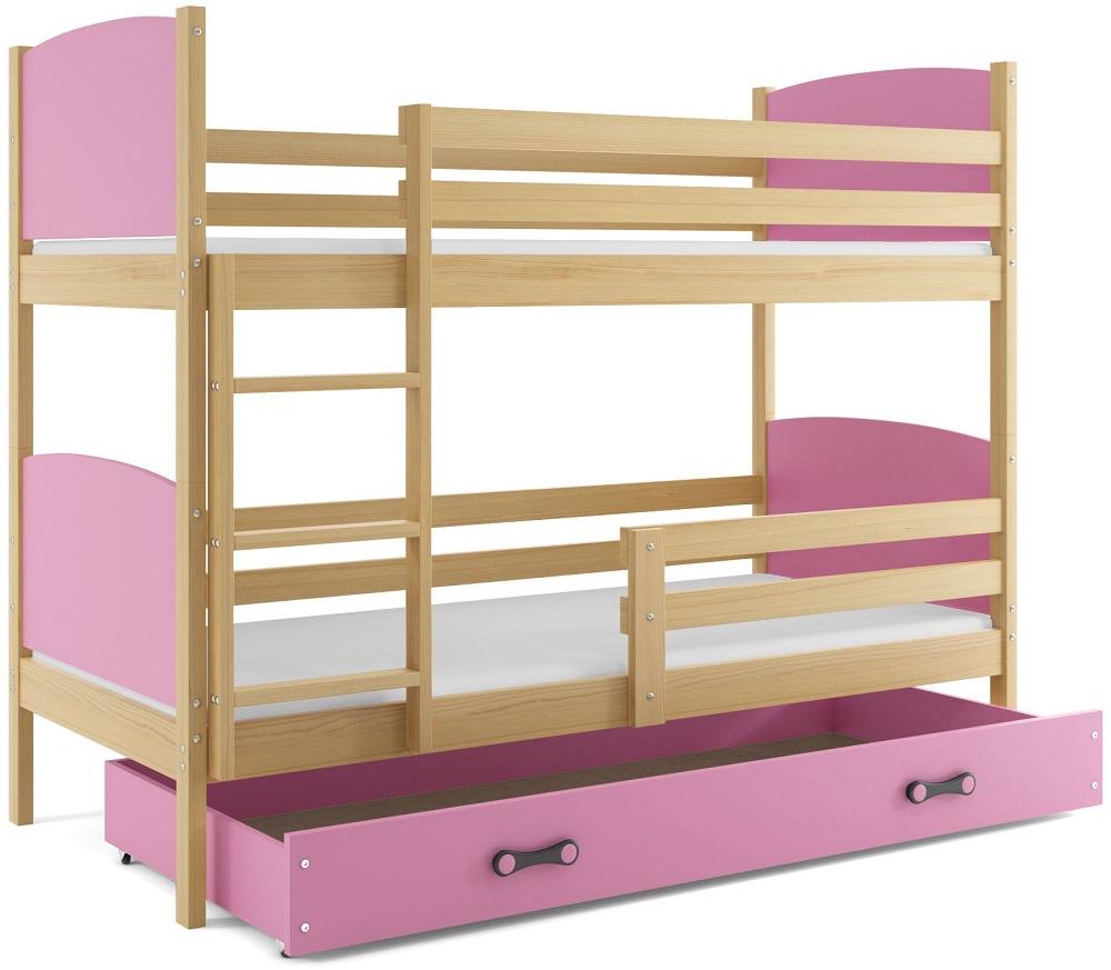 Detská poschodová posteľ Tami 2 BMS 90 x 200 Farba: Grafit