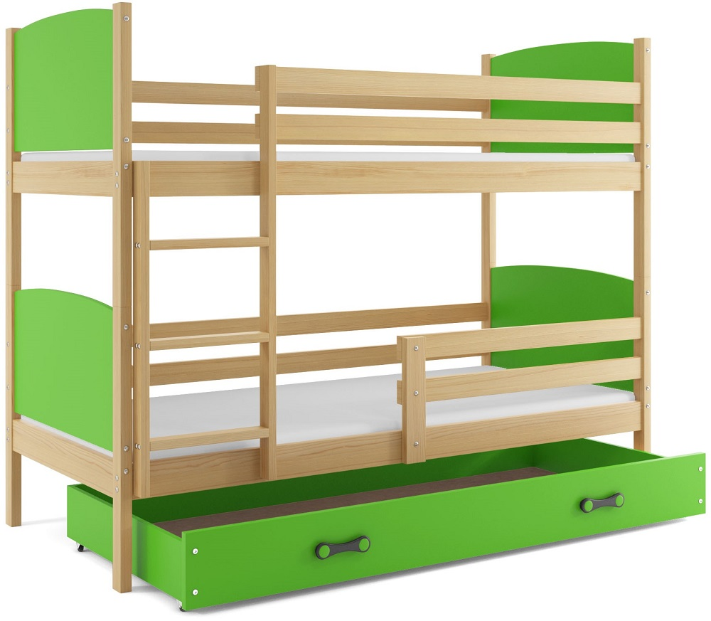 Detská poschodová posteľ Tami 2 BMS 90 x 200 Farba: Jelša