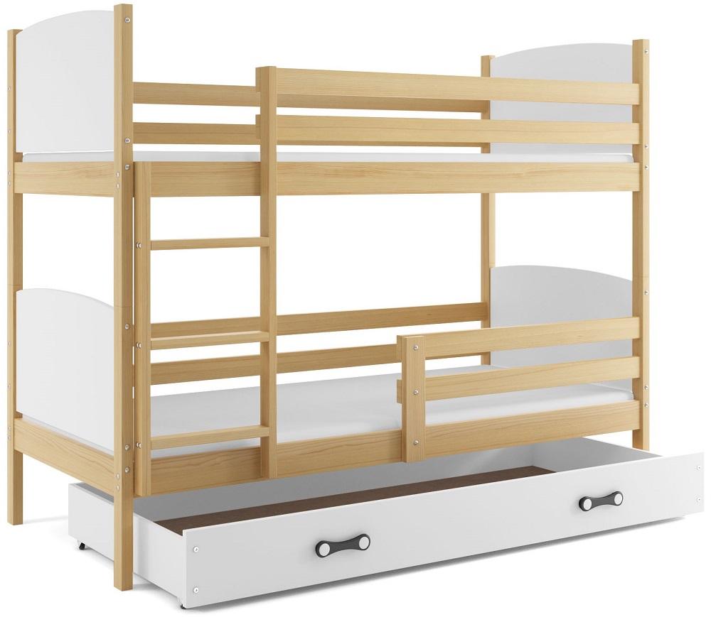 Detská poschodová posteľ Tami 2 BMS 90 x 200 Farba: Biela