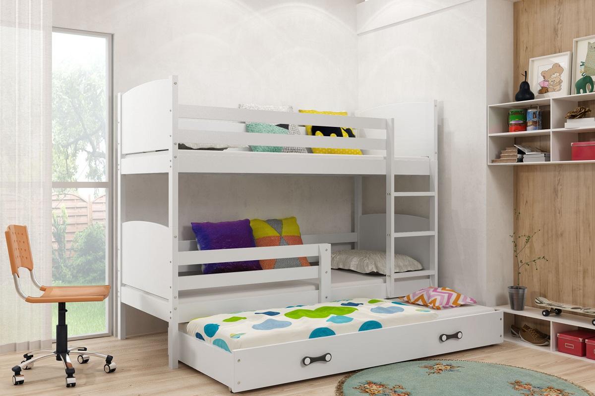 Detská poschodová posteľ Tami 3 BMS 80 x 160 Farba: Biela