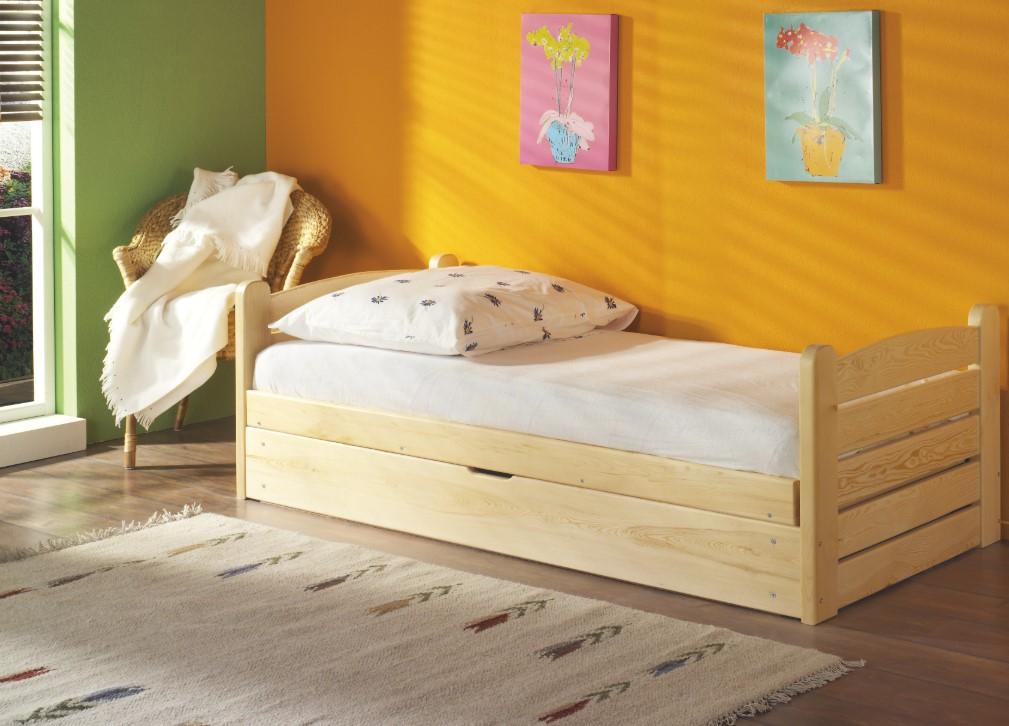 ArtBed Detská posteľ Ola / 190x87x60 cm Prevedenie: Borovica prírodná