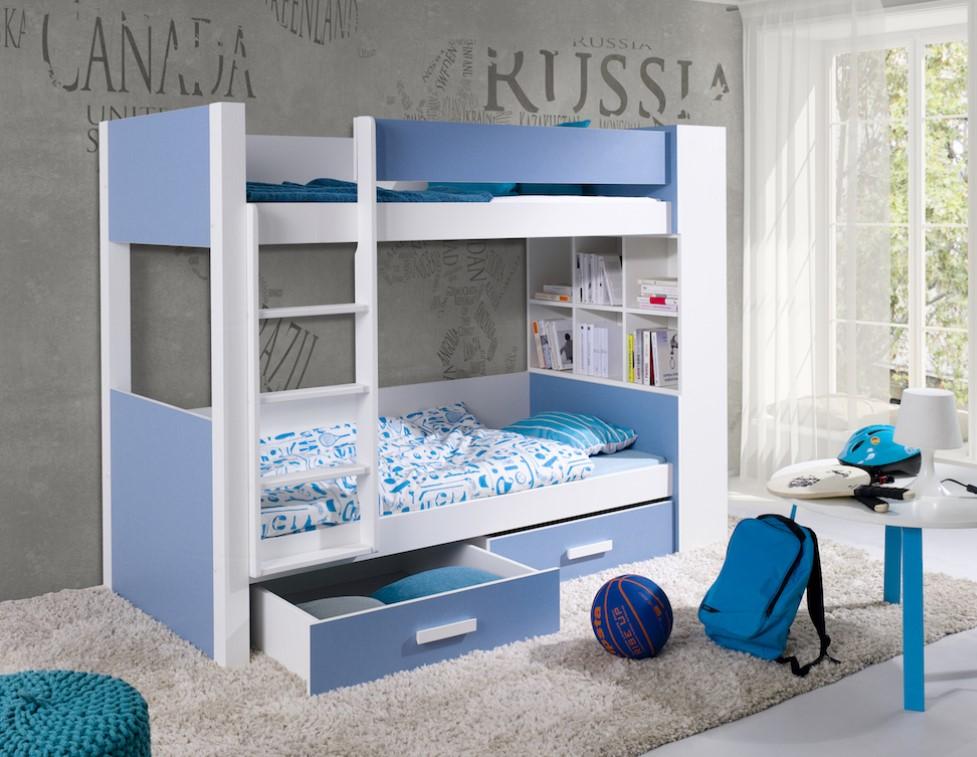 ArtBed Detská poschodová posteľ Gaspar Prevedenie: Borovica prírodná