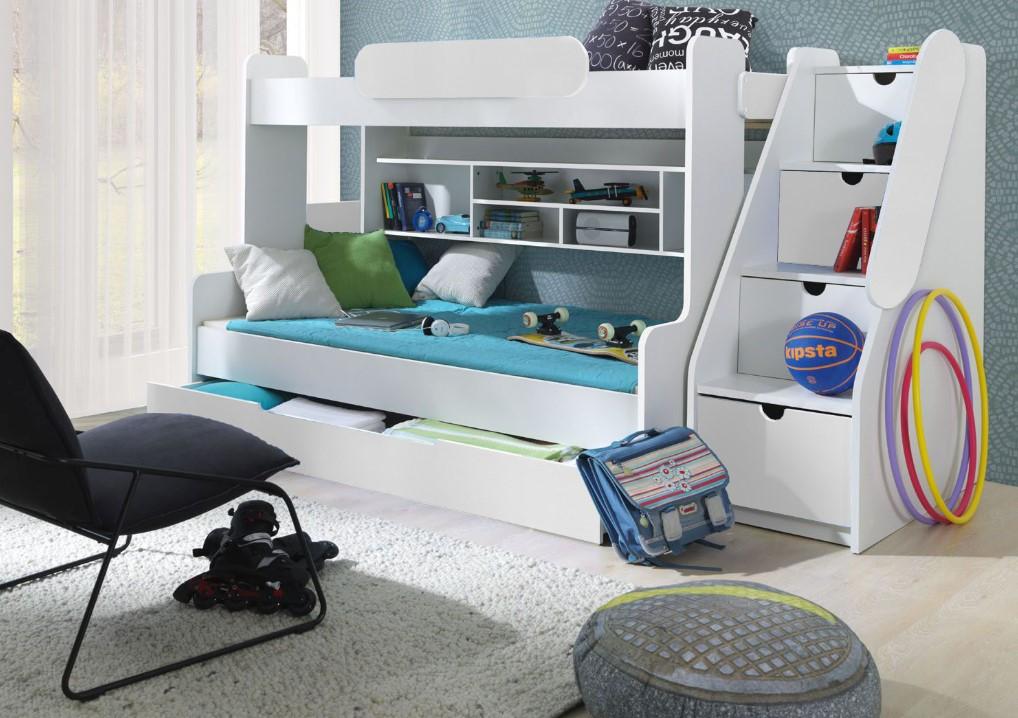 ArtBed Detská poschodová posteľ Segan Farba: Biela