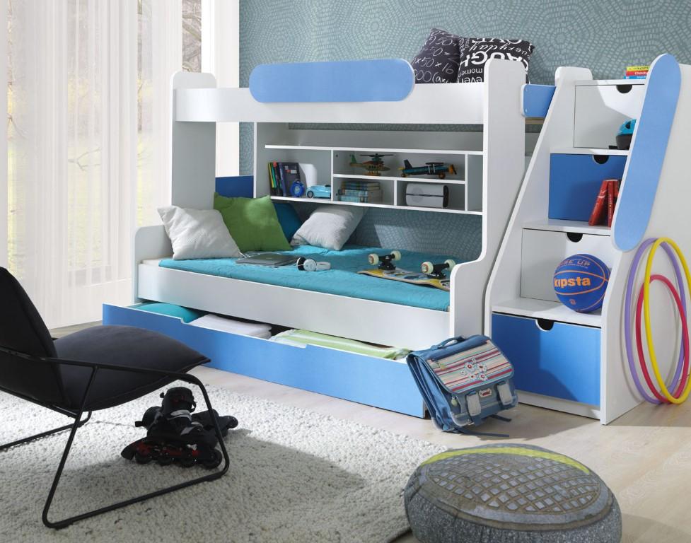 ArtBed Detská poschodová posteľ Segan Farba: Modrá