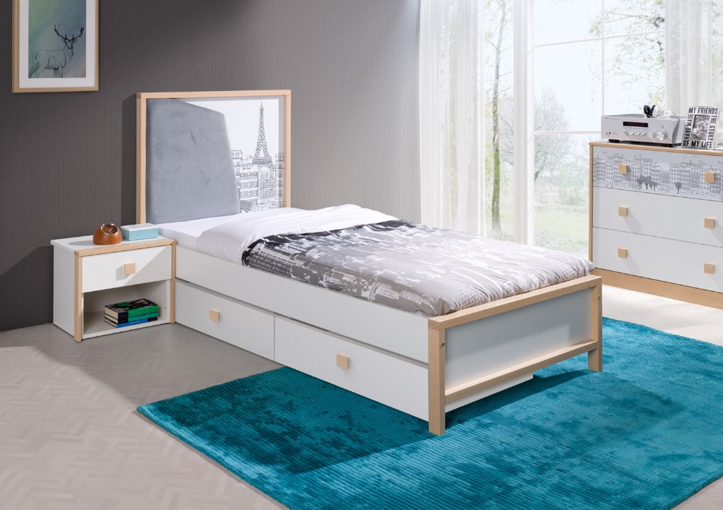 ArtBed Detská posteľ Bento Prevedenie: A - 87 x 110 x 190 cm s úložným priestorom