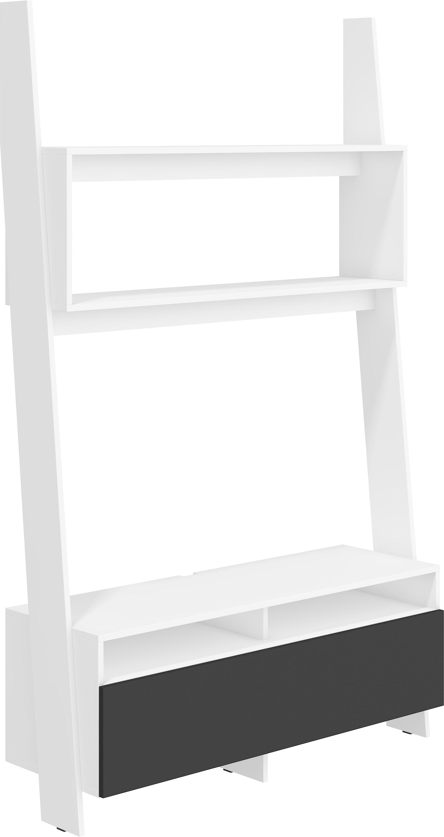 WIP TV stolík Rack 09 Farba: Biela / čierny lesk