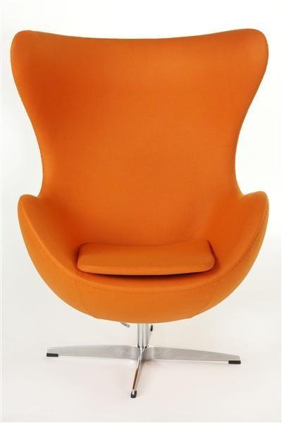 ArtKwa Kreslo JAJO inšpirované EGG kašmír Farba: Oranžová