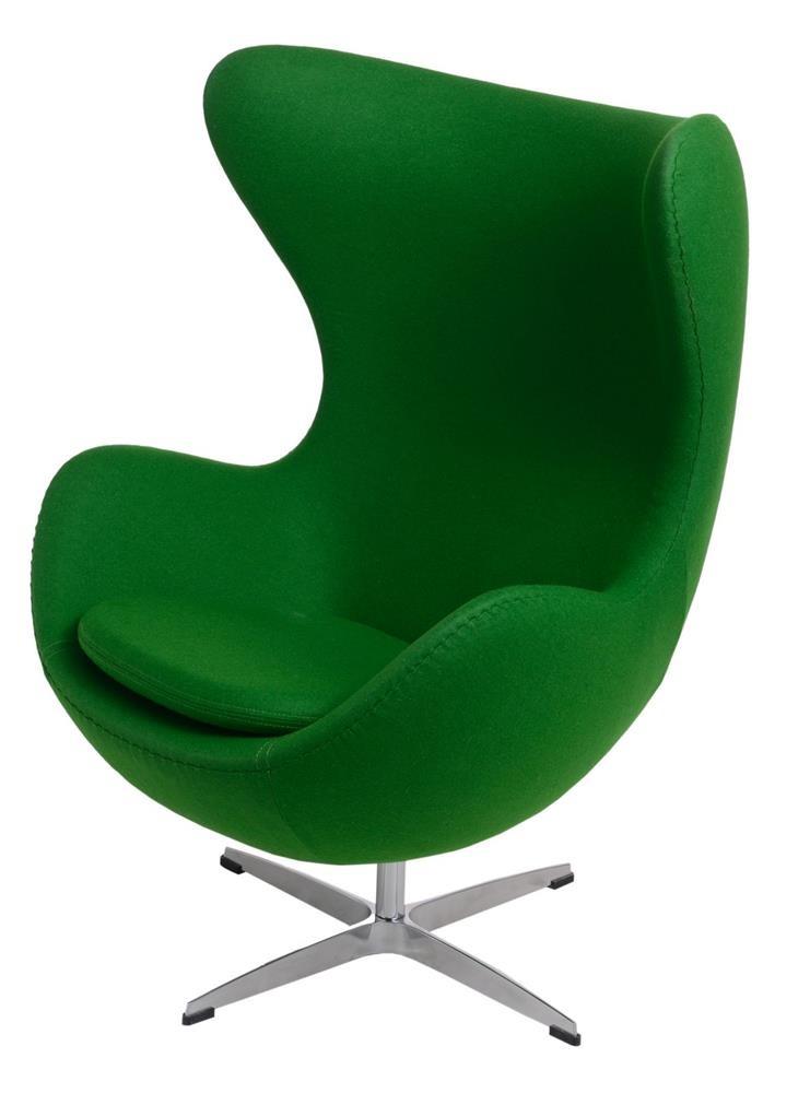 ArtKwa Kreslo JAJO inšpirované EGG kašmír Farba: tmavo zelená