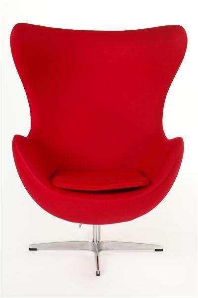 ArtKwa Kreslo JAJO inšpirované EGG kašmír Farba: Červená