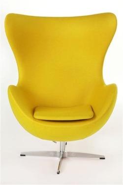 ArtKwa Kreslo JAJO inšpirované EGG kašmír Farba: Žltá