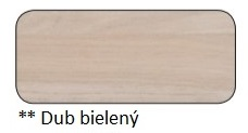 Drewmax Konferenčný stolík Metal ST376 / dub Farba: Dub bielený, Prevedenie: Hrúbka dosky 4 cm