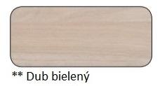 Drewmax Konferenčný stolík Metal ST375 / dub / doska 4 cm Farba: Dub bielený, Prevedenie: C 120 x 45 x 70 cm