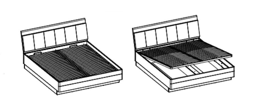 ArtExt Manželská posteľ MONACO TYP MOAL01 140x200 Prevedenie: výklopný rošt na plynových piestoch / 140