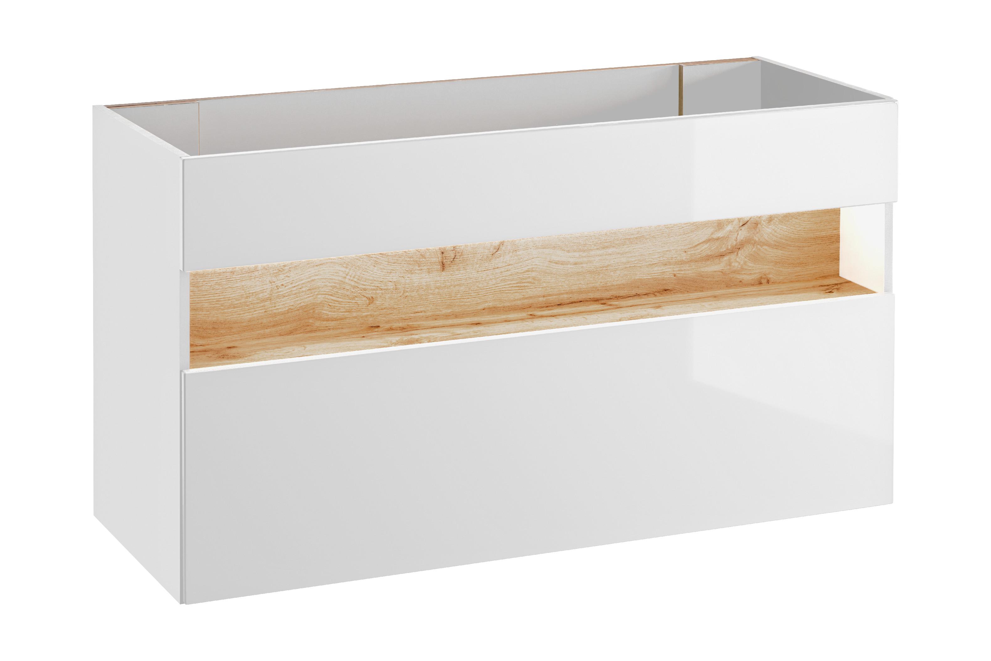 ArtCom Kúpeľňová zostava BAHAMA / white Bahama: skrinka pod umývadlo 120 cm - 854 | 68 x 120 x 46 cm