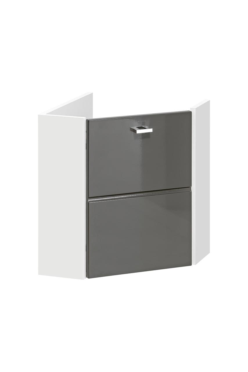 ArtCom Kúpeľňová zostava FINKA / GRAY FINKA: Skrinka pod umývadlo rohová 824 | (VxŠxH) 46 x 40 x 40 cm