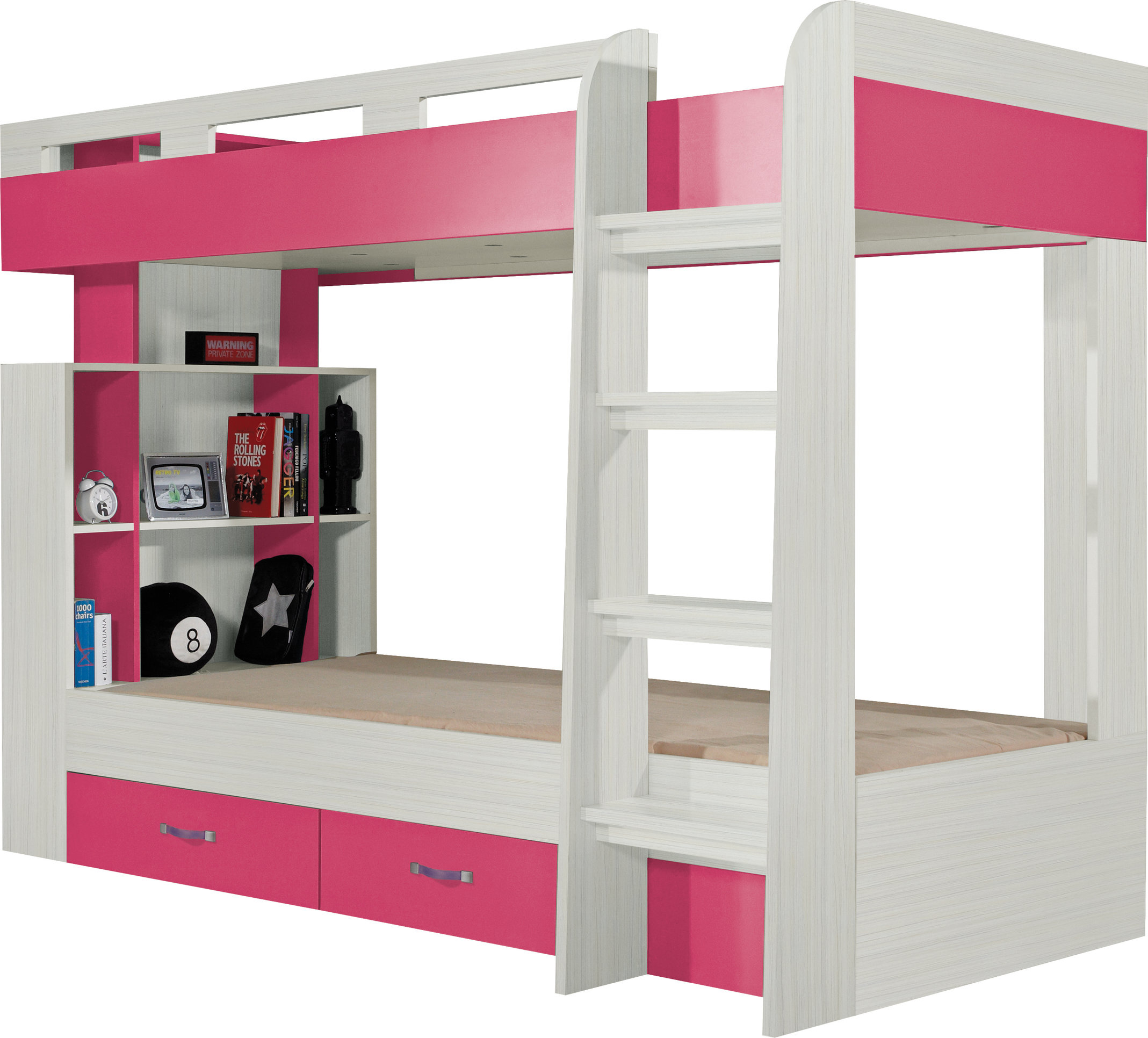 Meblar Poschodová posteľ Komi KM 19 Farba: Ružová