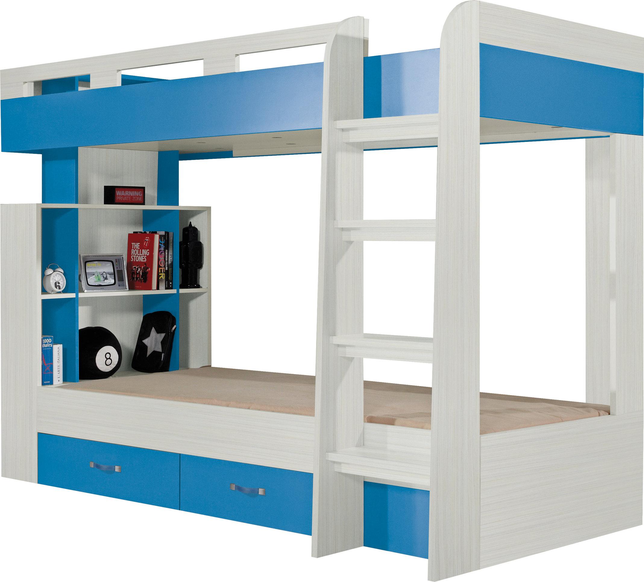 Meblar Poschodová posteľ Komi KM 19 Farba: Modrá