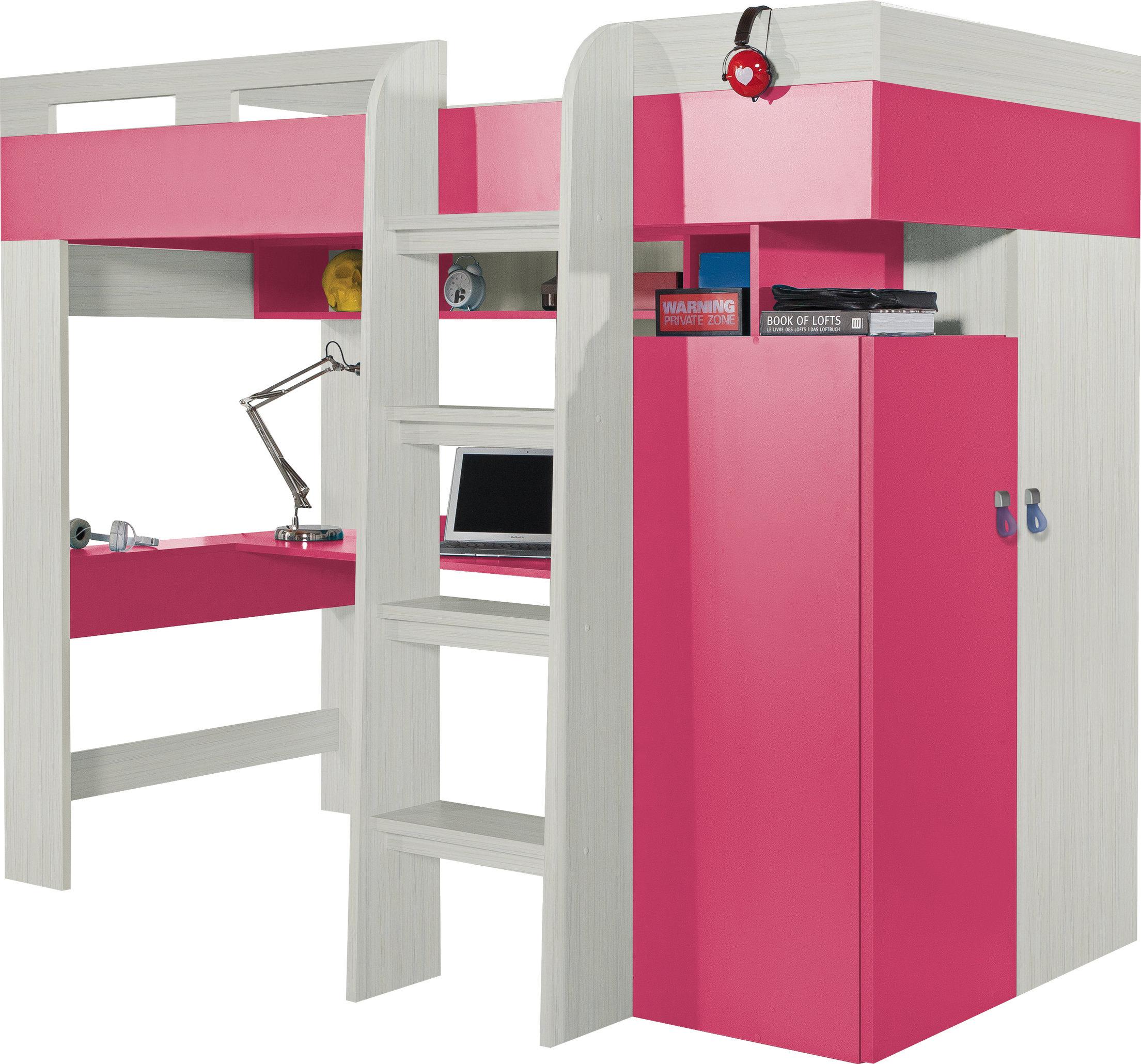 Meblar Poschodová posteľ Komi KM 20 Farba: Ružová