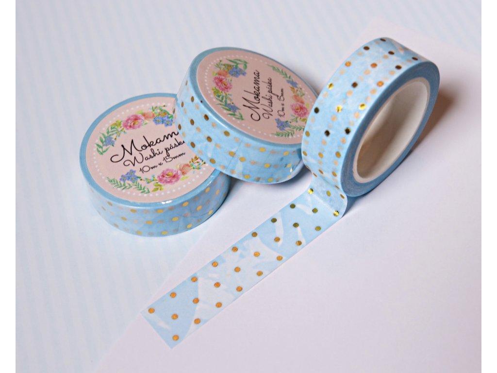 Puntíčky Modrá  Washi Páska