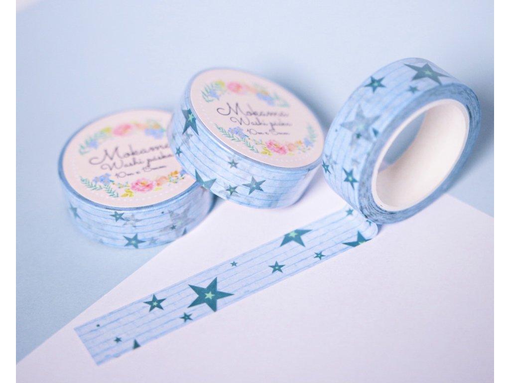 Stars are Blue Washi Páska