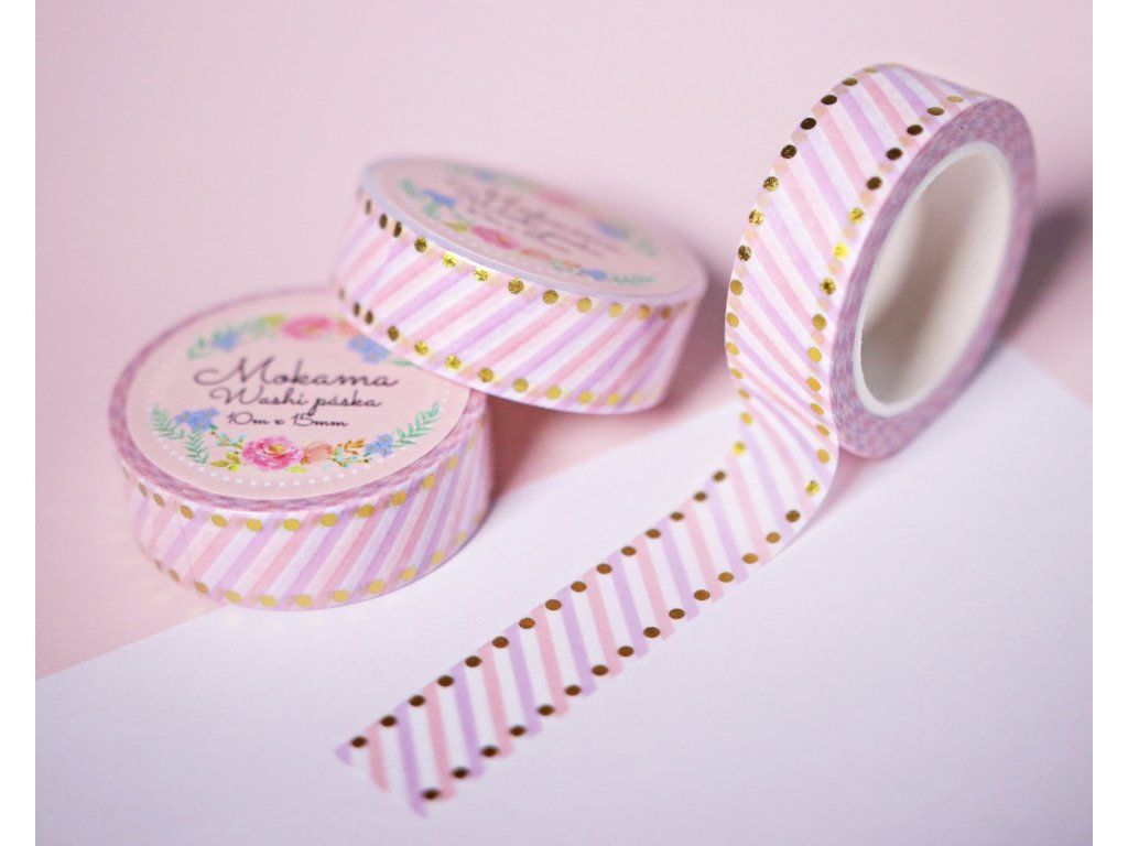 Flamingo Ice-Cream Washi Páska