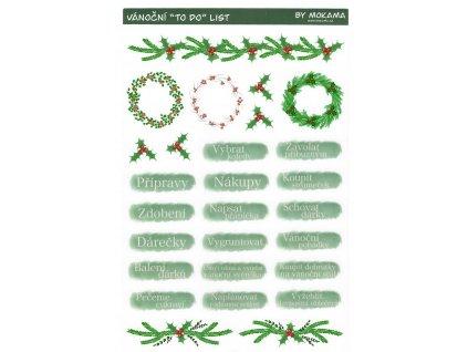 Vánoční TO DO List Samolepky