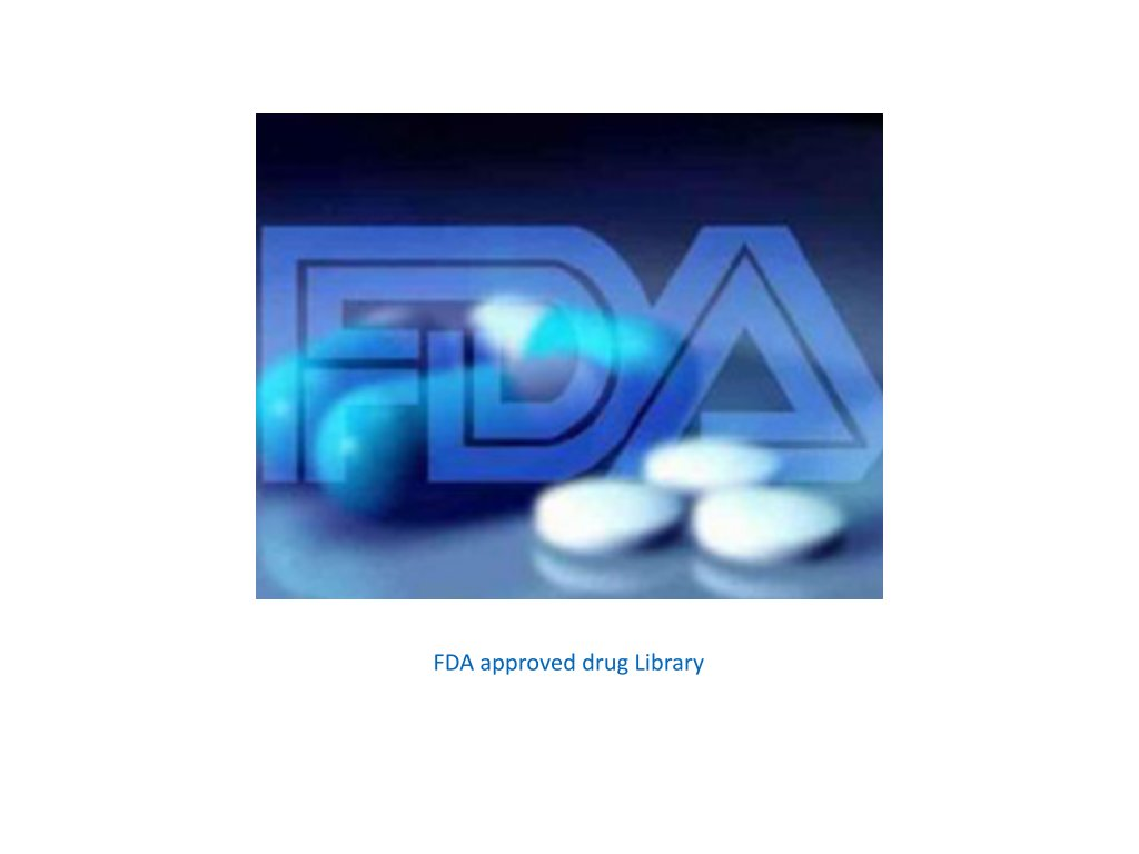 FDA approved drug library