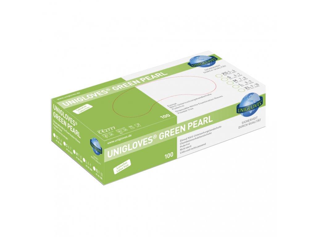 Rukavice nitril Green Pearl Unigloves
