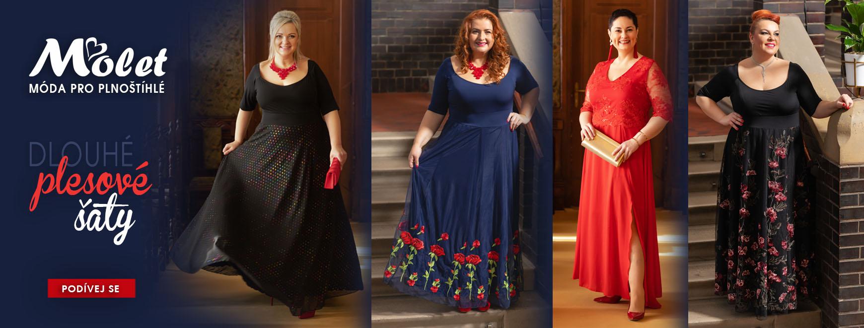 Plesové dlouhé společenské šaty