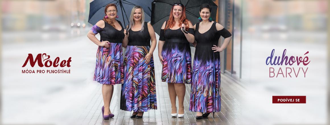 šaty pro plnoštíhlé