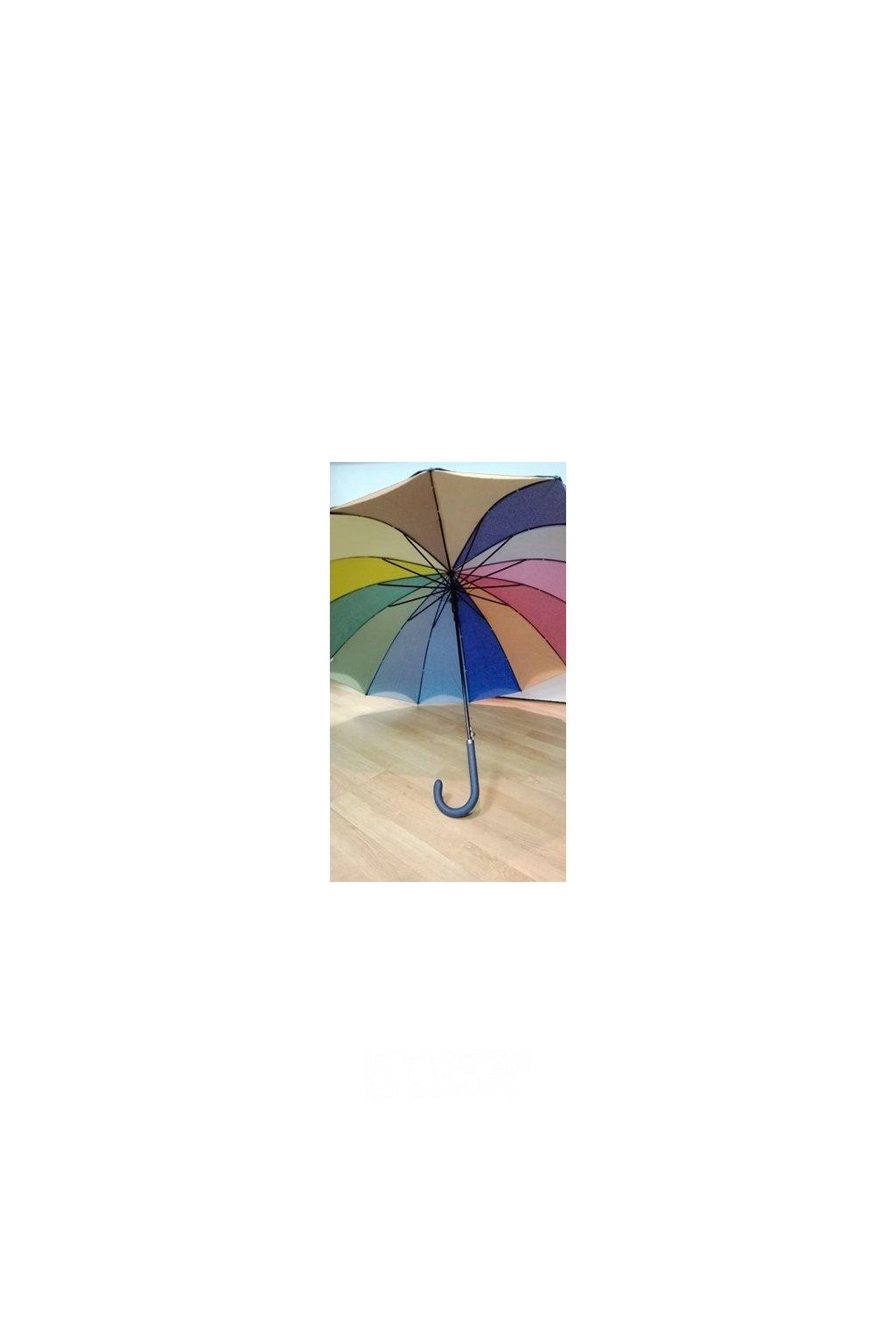 Děštník UNI holový duhové okraje vystřelovací