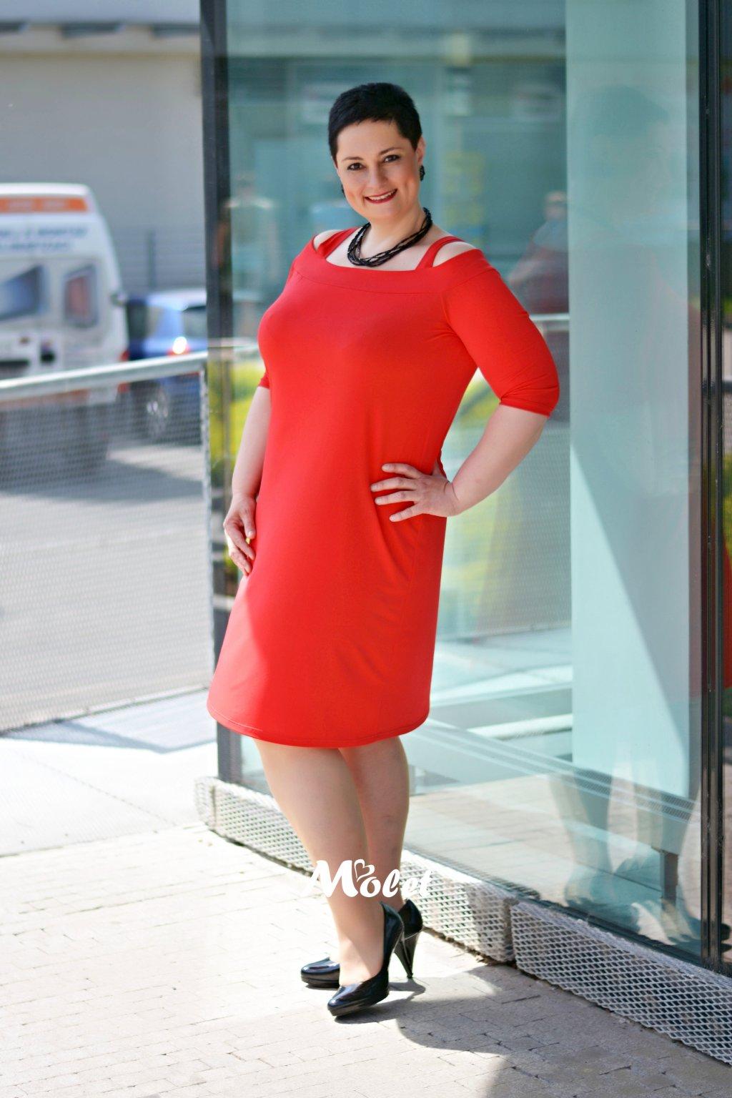Alia červené šaty na ramínka