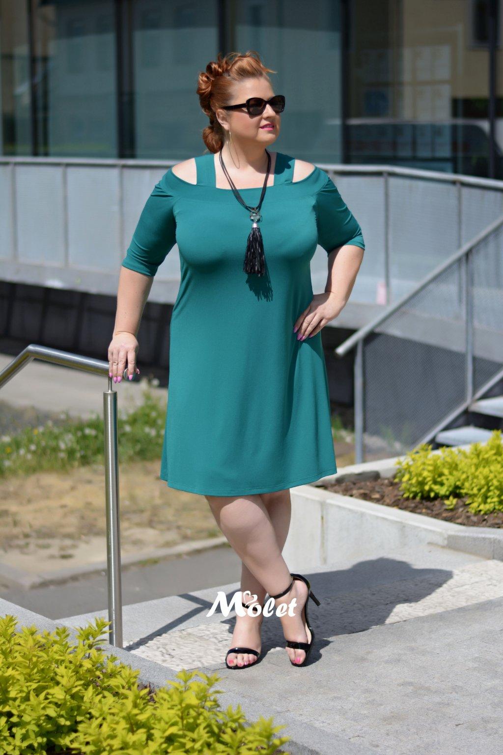 Alia zelené šaty na ramínka