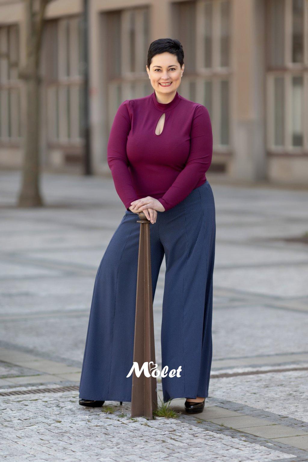 Lisa kalhotová sukně modrá puntík