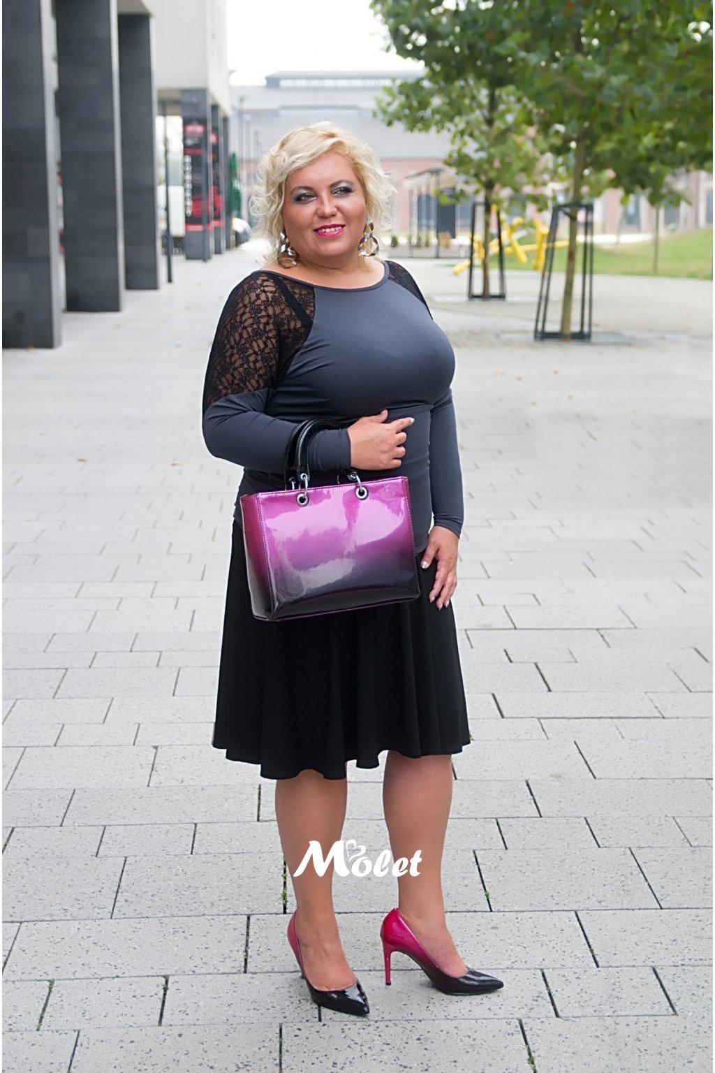 Teresa černá kolová sukně