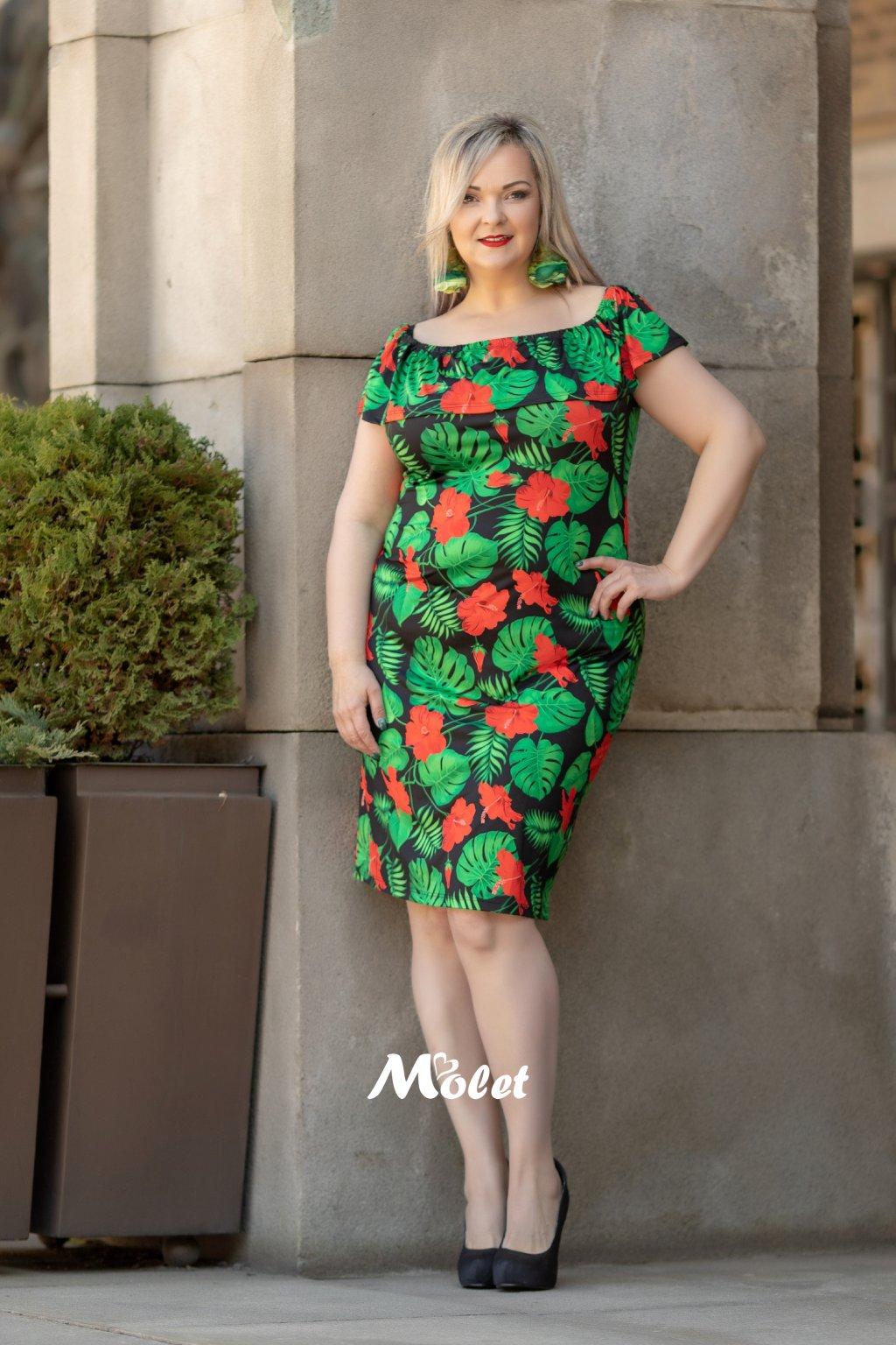 Flo krátké šaty s volánem Tropic