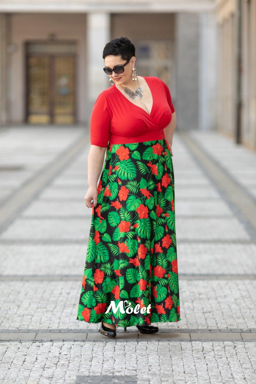 Alanis dlouhé šaty červené Tropic
