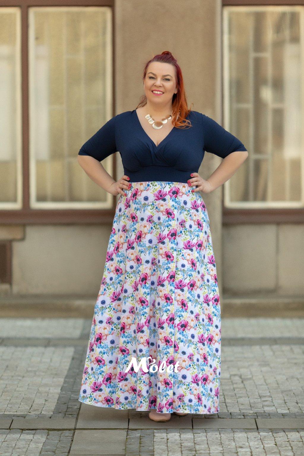 Alanis dlouhé šaty modré Flora