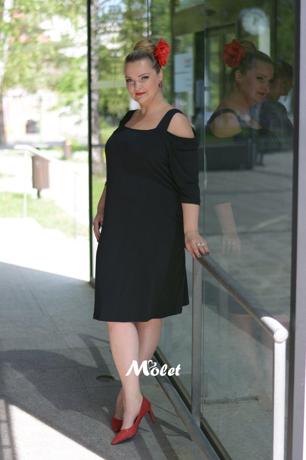Alia černé šaty na ramínka