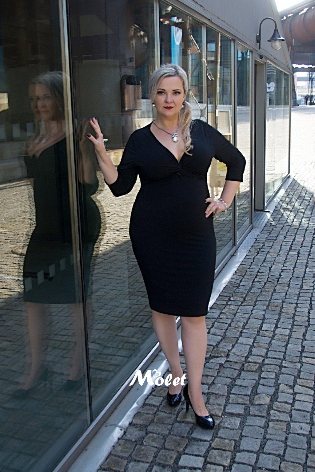 Gemma pouzdrové šaty černé