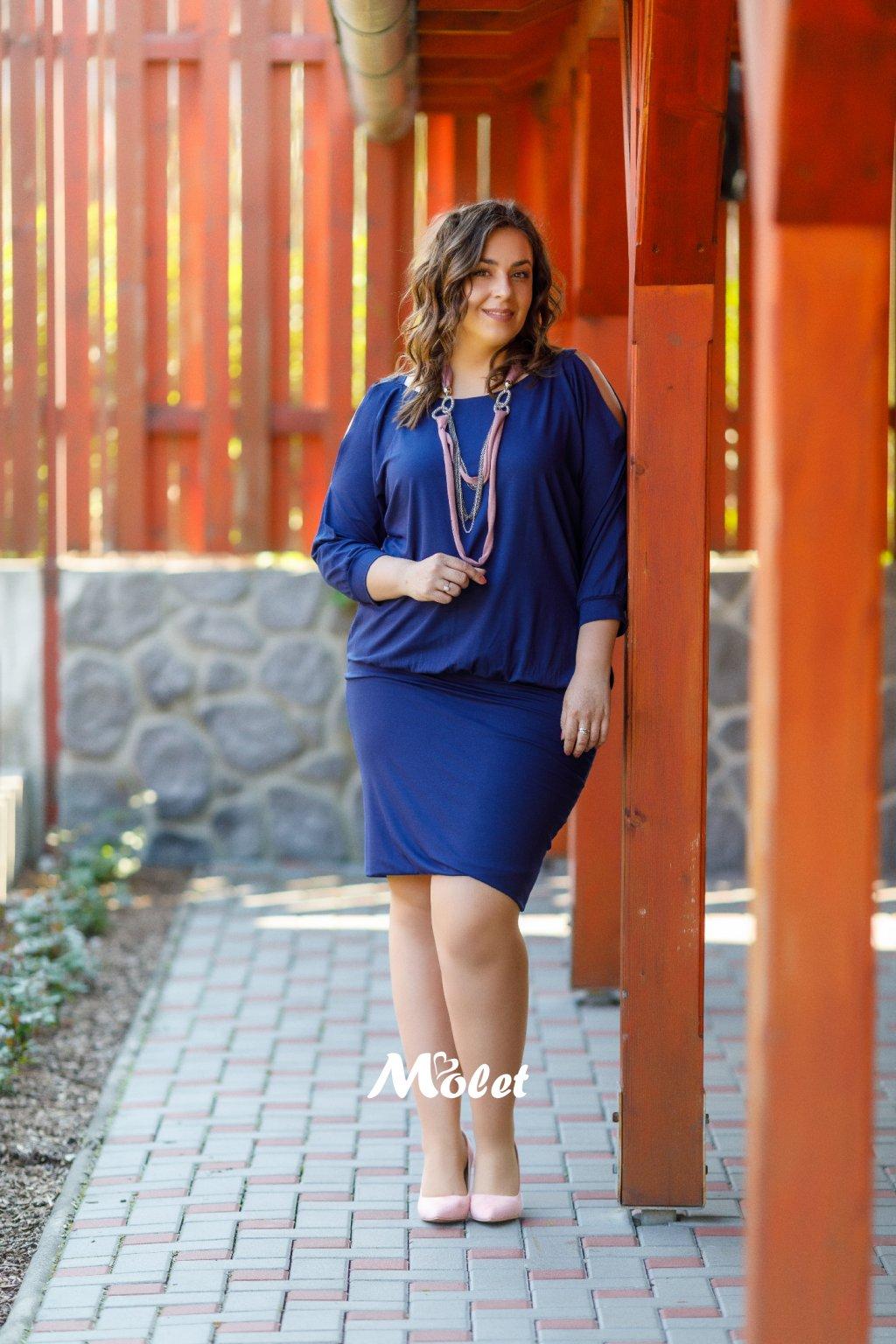 Bodi modré šaty